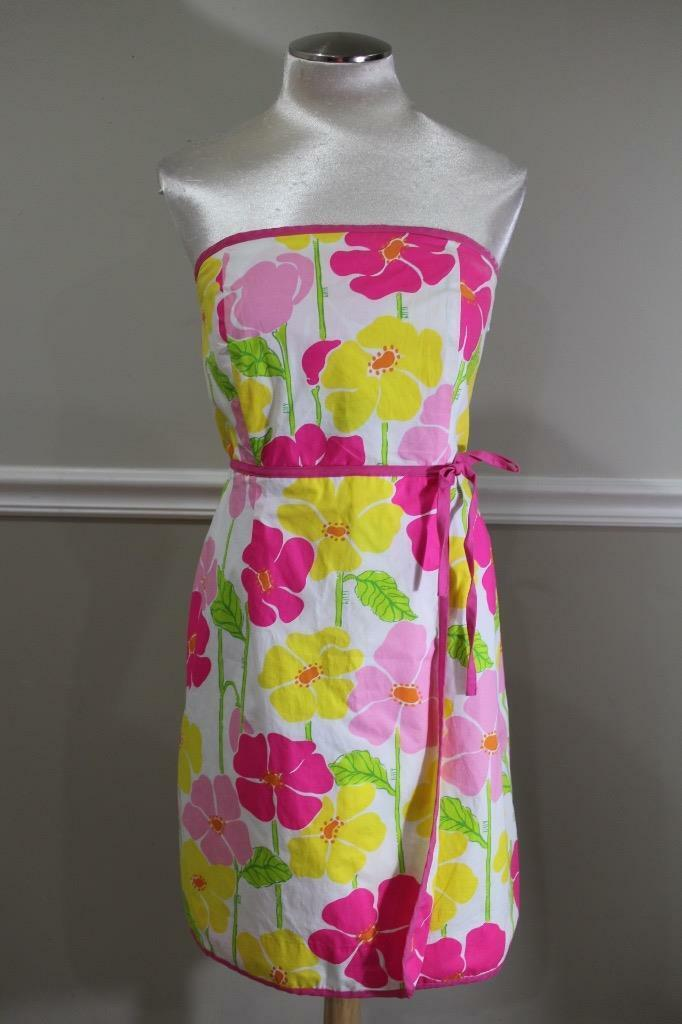 Lilly Pulitzer floral strapless dress size 8 (DR500