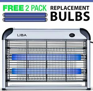 Indoor-Bug-Zapper-Insect-Fly-Killer-Mosquito-Pest-Bug-Trap-Catcher-2-Extra-Bulbs