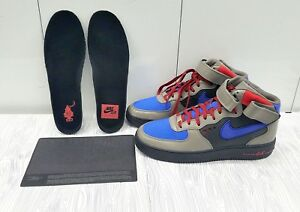 BRAND NEW NIKE AIR FORCE ONE MID SUPREME OPTIMUS PRIME GREY BLUE RED ... 2b981a3031