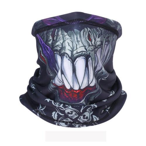 3D Printing Cycling Motorcycle Neck Warmer Face Mask Ski Scarf Balaclava Bandana