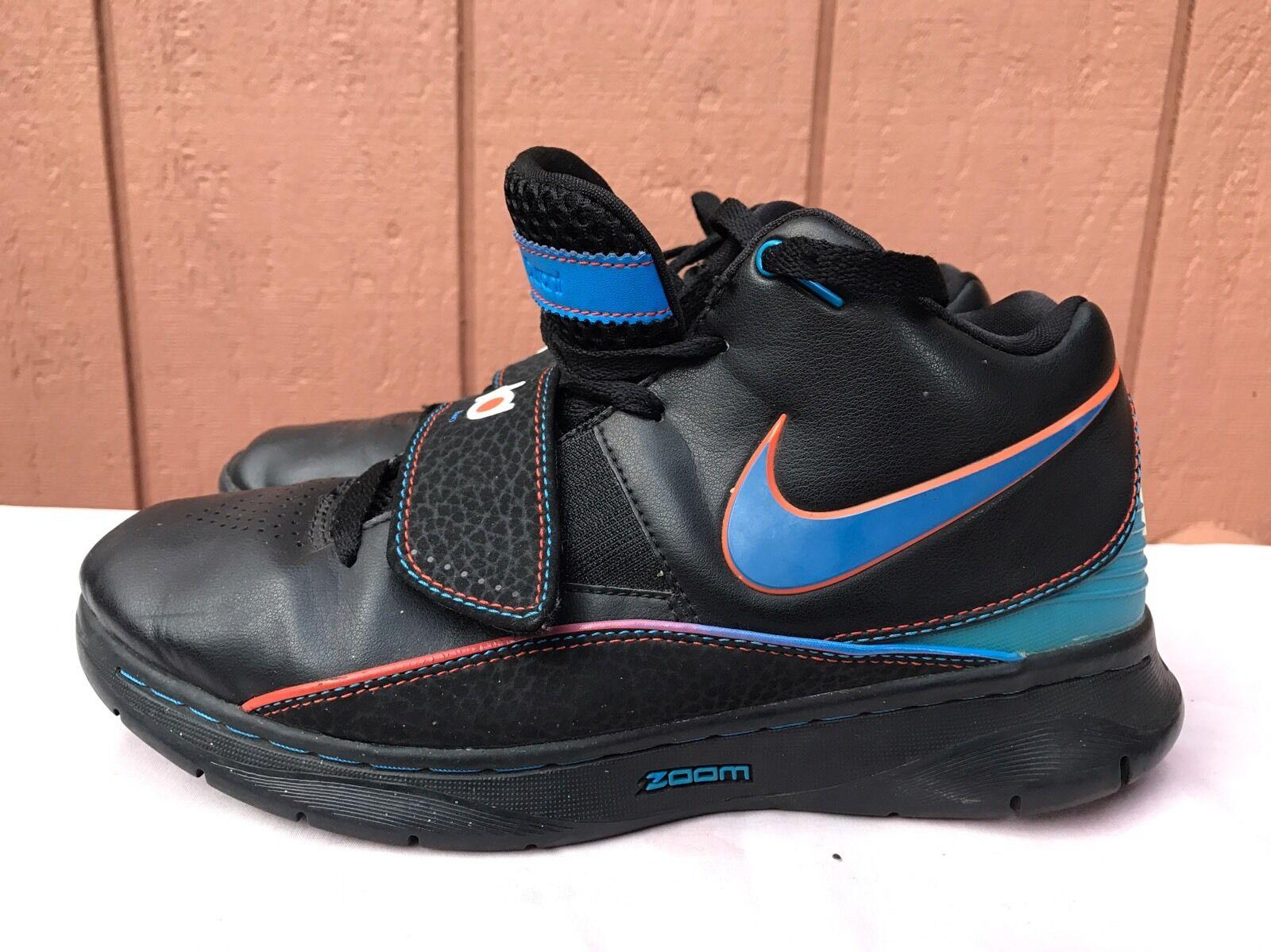 EUC NIKE KD II 2 KEVIN DURANT BLACK-PHOTO BLUE-TEAM ORANGE US 7.5 386423-041 Cheap women's shoes women's shoes
