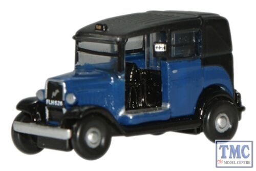 NAT002 Oxford Diecast Blue Low Loader Taxi 1/148 Scale N Gauge