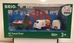 Brio World Wooden Railway RC Travel Train #33510 , New