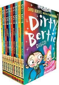 Dirty-Bertie-Series-3-Collection-David-Roberts-10-Books-Set-Disco-Monster-Fame