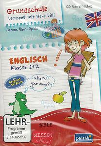 CD-ROM-Lernspass-mit-Hexe-Lilli-Englisch-1-und-2-Klasse-Lernen-Spielen