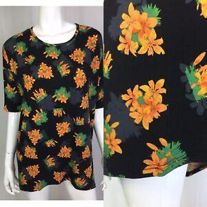 f5992888bc8 NWT LuLaRoe Women's Irma High Low Tunic Top Shirt Small Black Floral ...