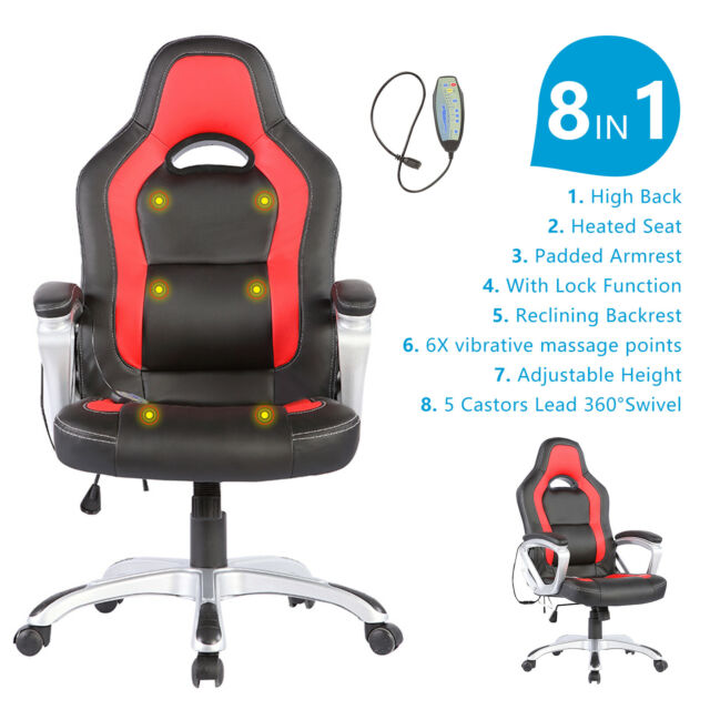 Pu Leather Heated Mage Office Chair