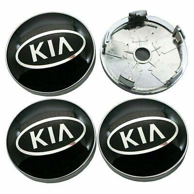 4PCS 60mm Car Wheel Center Hub Caps Emblem Badge Rim Cap for Cadillac Black