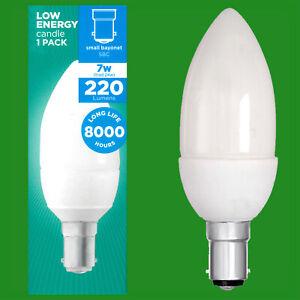 Lamps Small Bayonet SBC B15 12x 11W Low Energy CFL 2700K Candle Light Bulbs