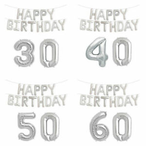 SILVER-HELIUM-HAPPY-BIRTHDAY-BALLOON-SET-NUMBER-AGE-PARTY-DECOR-BUNTING-BANNER