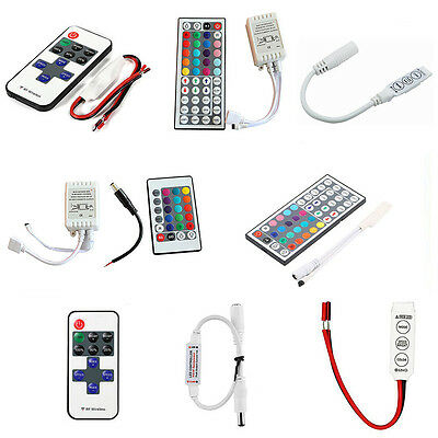3//10//24//44 Tasten Mini IR Fernbedienung Für 3528 5050 RGB LED Streifen G-9