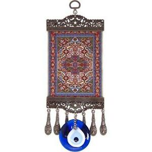 Evil Eye Ward Charm, Mini Ottoman Turkish Carpet, Wall Hanging!