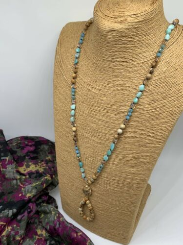 Custom Stone and Steel Single Bead Fidget Charm Necklace