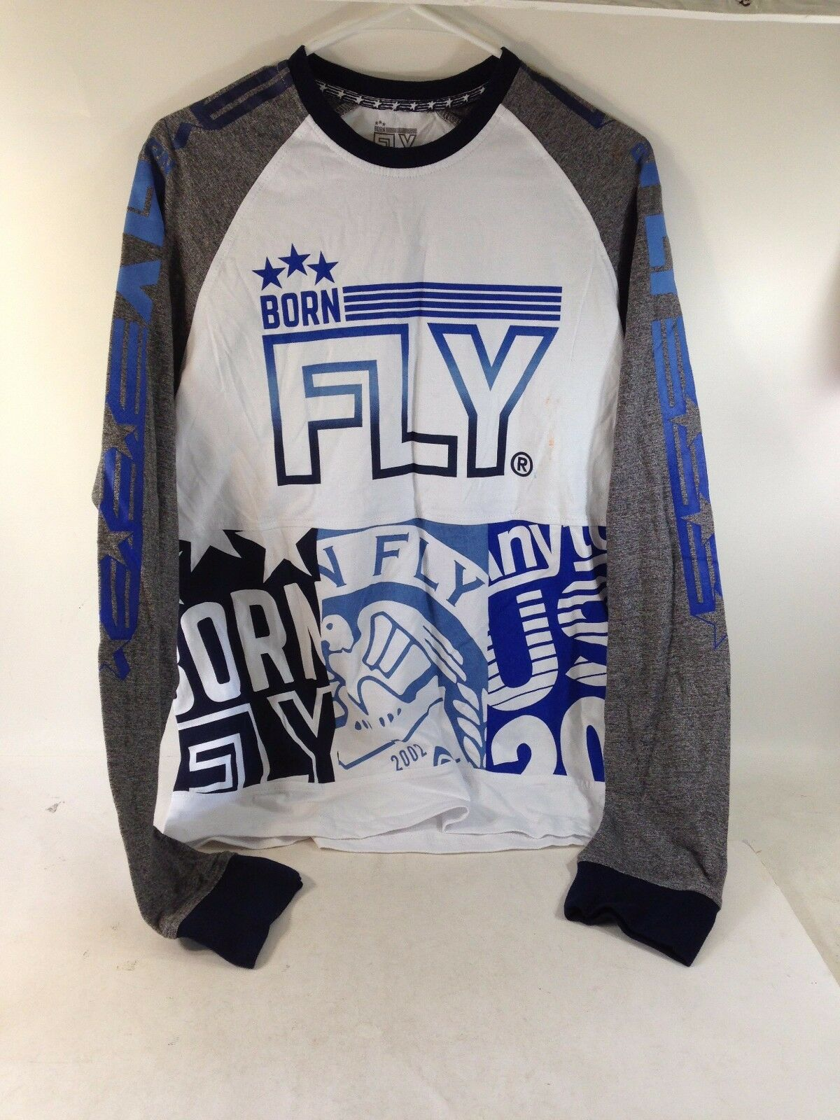New BORN FLY ANY TOWN USA 2002 LONG SLEEVE SHIRT Size L