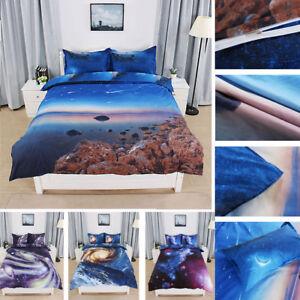 3D Galaxy Sky Cosmos Twin Queen Size Bedding Set Quilt Covers Duvet ...