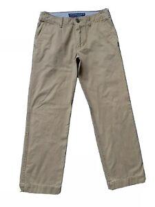 "American Eagle Mens Size 31 x 32 ""Relaxed"" Straight Leg Chino Khakis EUC R713"
