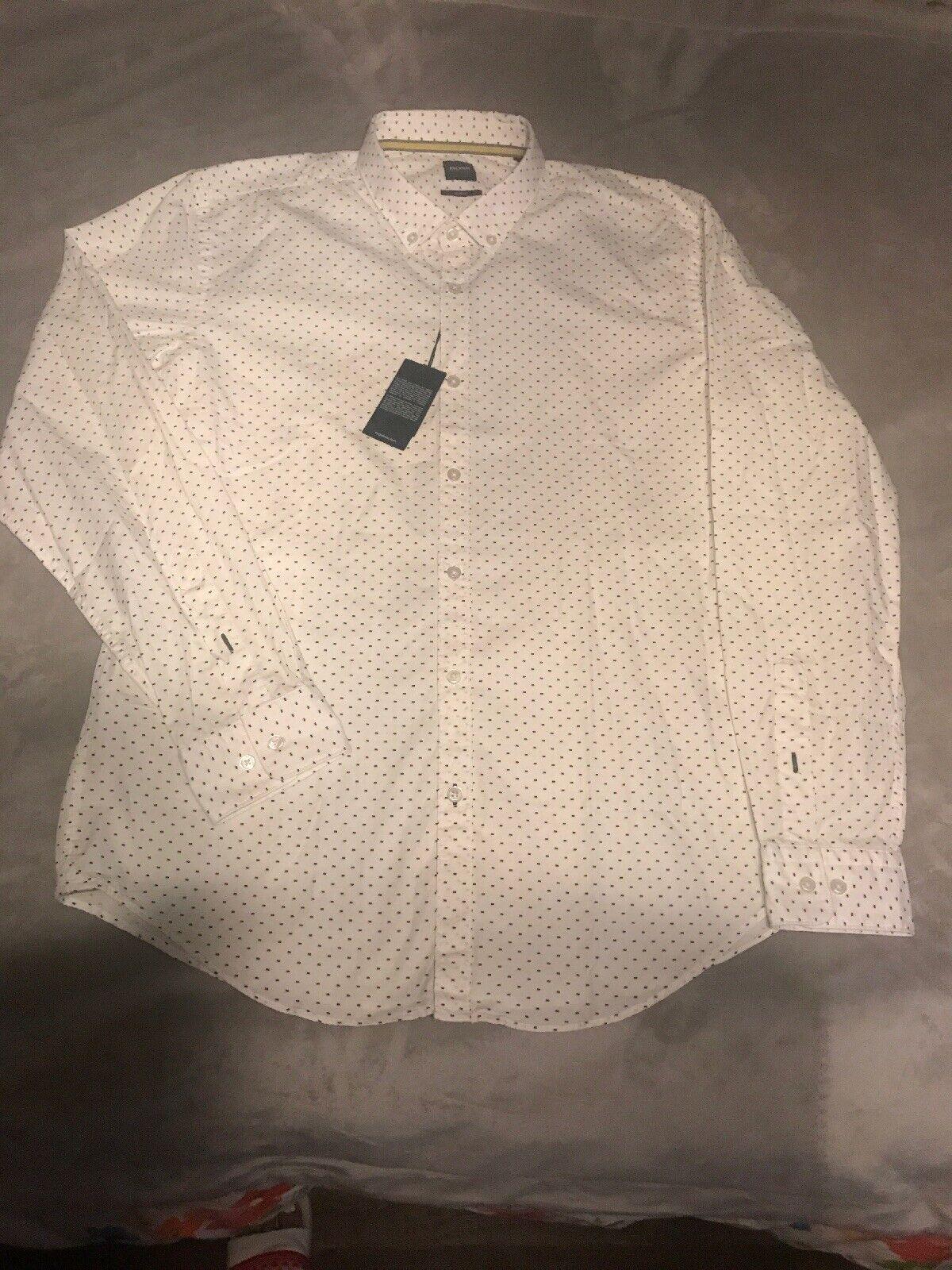 Hugo Boss Slim-fit Rikard Imprimé à hommeches longues Chemise en Taille XL