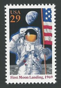 Details about Apollo 11 25th 50th Anniversary First Man on Moon Armstrong  US Space Stamp MINT!