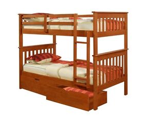 Donco Kids Twin over Twin BUNK BED -Boys & Girls Espresso ...