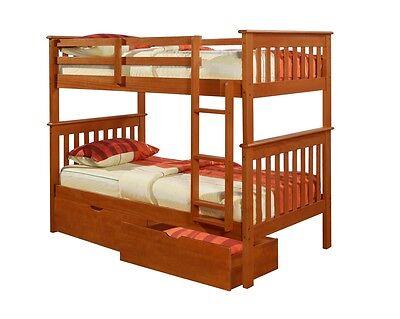 Donco Kids Twin Over Twin BUNK BED Boys Girls Espresso EBay