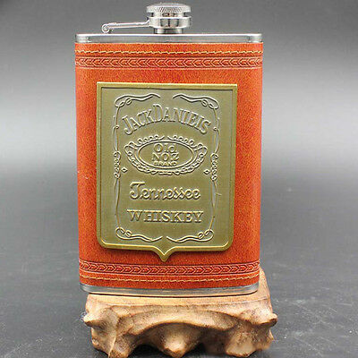 Portable Vintage Liquor Alcohol Flagon Stainless Steel Hip Flask Wine Bottle 9oz