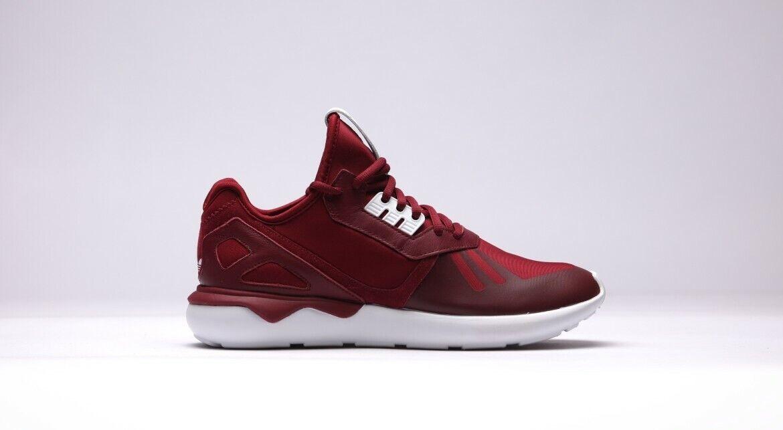 Mens Adidas Tubular Runner Burgundy White, New, B41274