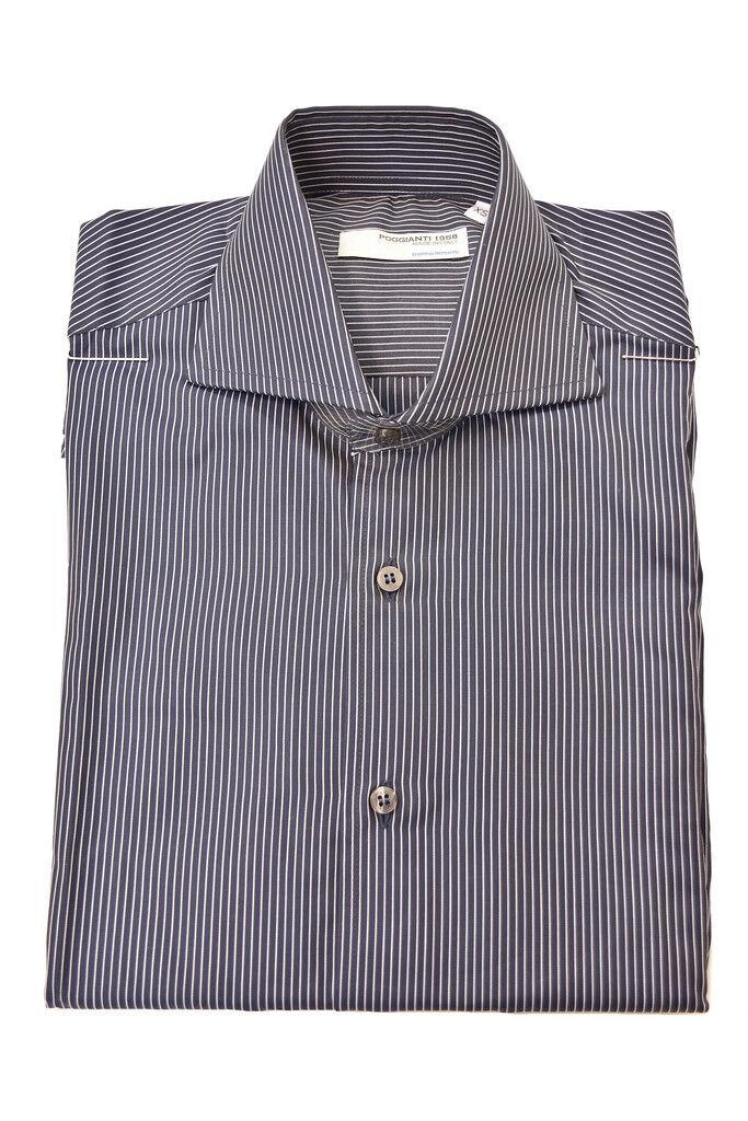 Poggianti 1958 Herren Authentisches Authentisches Authentisches Langarmhemd Größe XS Multi   BCF82 | Neuer Stil  5fa448