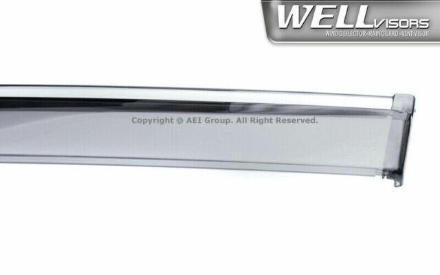 Wellvisors For HONDA ODYSSEY 11-17 Chrome Trim Side Window Visor Rain Guard Set