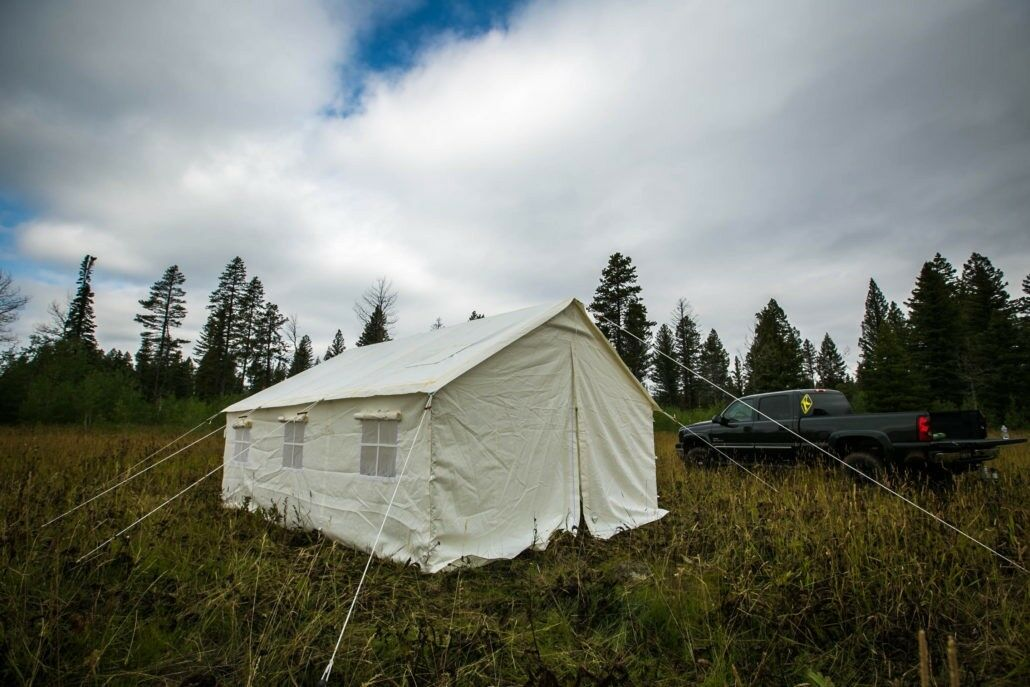 Nuovo 13 x 16 Canvas Wall Tent & Angle Kit by Elk Mountain Tents