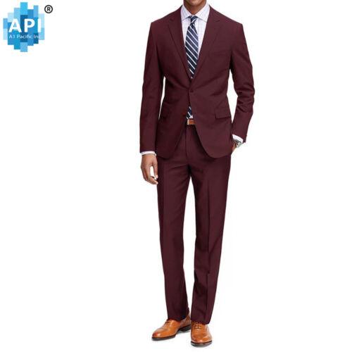 Men's Formal classic Fit 2 piece Suit two button solid color Jacket pants PR02