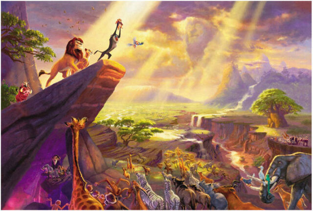 1000 Piece Deluxe Jigsaw Puzzle The Lion King The Life Circle Fairy Tale SM1086