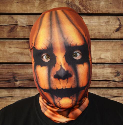 3D EFFECT PUMPKIN HEAD FACE SKIN LYCRA FABRIC FACE MASK HALLOWEEN HORROR