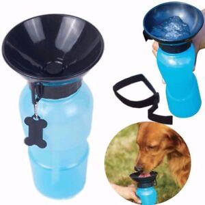 Borraccia-portatile-per-cane-gatto-animali-acqua-400ML-ciotola-viaggio-dispenser