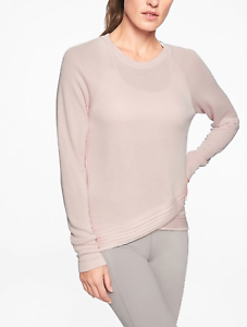 ATHLETA  BEYOND SOFT PINK LONG SLEEVE CRISS CROSS SWEATSHIRT TOP PLUS Sz 1X