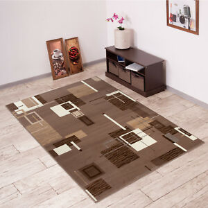 Details About Modern Area Rug For Bedroom Living Dining Room Square Pattern Durable Carpet