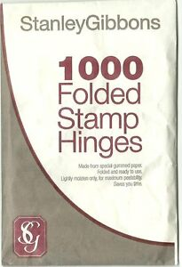 STANLEY-GIBBONS-1000-FOLDED-STAMP-HINGES-Finest-Quality-PEELABLE-Acid-Free-GUM
