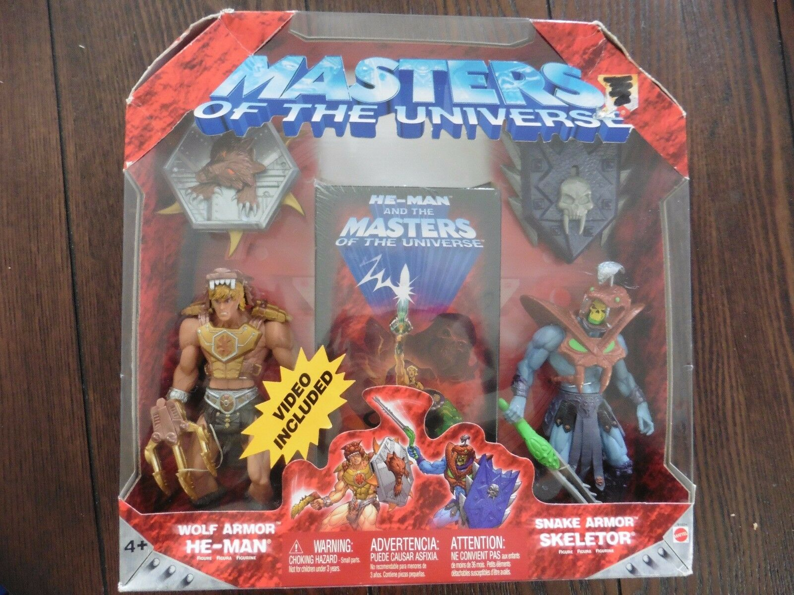 MOTU Masters of the Universe 200x  WOLF ARMOR HE-MAN + SNAKE ARMOR SKELETOR