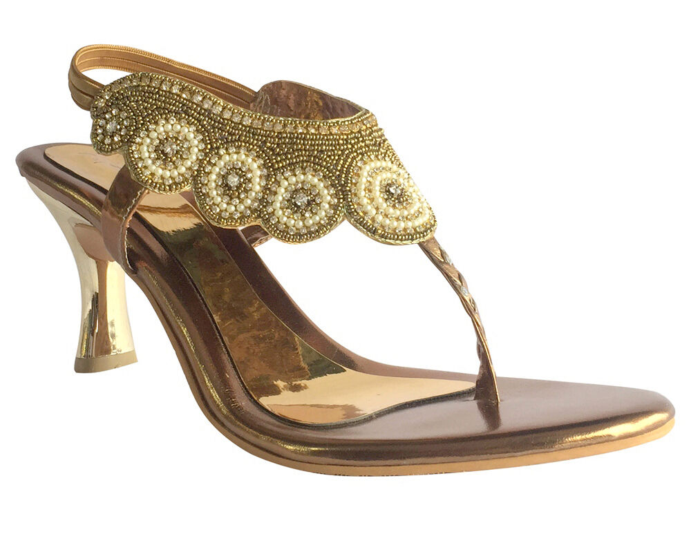 Royaume-Uni Mariée Sexy Strass Dentelle Maille Bout Ouvert Talon Aiguille Indian Chaussures DD471