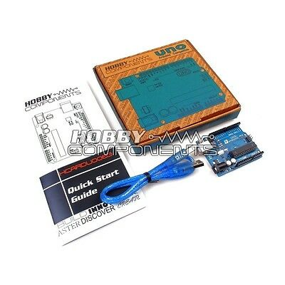 HOBBY COMPONENTS Arduino Compatible R3 Rev 3 Uno with Box and Quick Start Guide