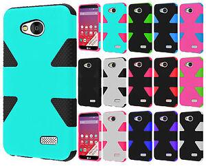 For-MetroPCS-LG-Optimus-F60-IMPACT-TUFF-HYBRID-Case-Skin-Phone-Cover-Accessory