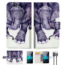 Elephant Wallet Case Cover For ZTE Blade A610-- A007