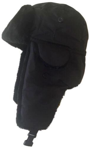 Nouveau chapeau de trappeur Homme Taille Unique Imperméable 4 Couleurs Doublure Chaude bordure en fourrure synthétique