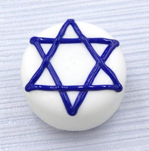 21-011WE Hulet Glass Star of David Hanukkah Glass Treat