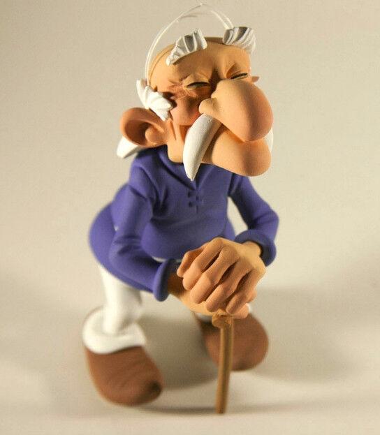 Astérix & Obelix Methusalix Résine Synthétique Figurine Fariboles Env. Ca.12cm