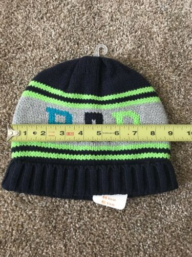 Details about  /NWT Gymboree Boys RAD Knit Navy Green Beanie Winter Hat Large