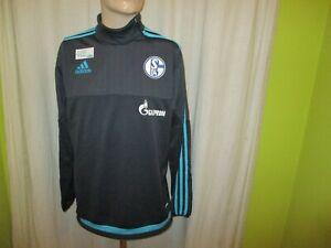 FC-Schalke-04-Adidas-Spieler-Freizeit-Training-Sweatshirt-2015-16-034-GAZPROM-034-Gr-M
