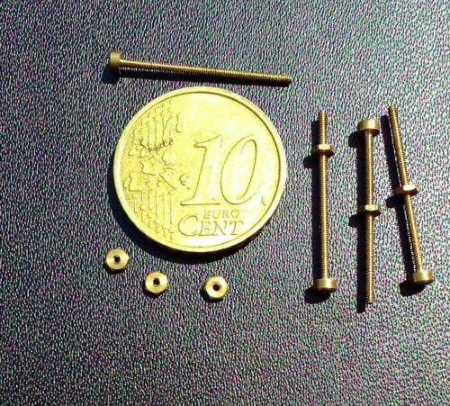 micro viti in ottone crudo D 1 mm per hobbystica modellismo ottica orologeria