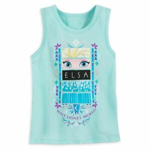 Disney Frozen Girls Tank Top Elsa Walt Disney World Girls Size XXS XS S New