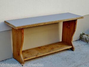 kleine sitzbank alt holz linoleum grau bank bauernbank ofenbank wirtshaus kneipe ebay. Black Bedroom Furniture Sets. Home Design Ideas