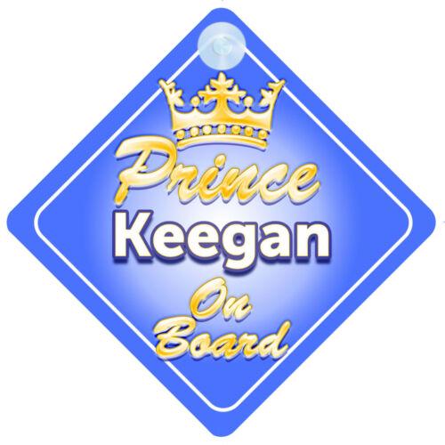 Prince héritier keegan à bord personnalisé bébé garçon VOITURE SIGNE